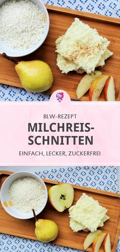 BLW-Rezept zum Frühstück: Leckere Milchreisschnitten - Lara EssenToday I'm going to show you a recipe idea for baby led weaning and porridge-free nutrition: our milk rice cuts for children from 6 months are delicious for breakfast or as a snack # Baby Food Recipes, Gourmet Recipes, Healthy Recipes, Healthy Nutrition, Rice Recipes, Baby Led Weaning, Cheap Clean Eating, Clean Eating Snacks, Healthy Eating