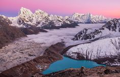 7 Stunning places to visit in Asia  Picture of Gokyo Ri of Magic mountain lake and Mount Everest in Himalaya, Nepal