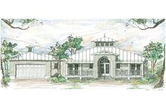 House Plan 73613 - Florida, Ranch Style House Plan with 1997 Sq Ft, 3 Bed, 4 Bath, 2 Car Garage Florida House Plans, Coastal House Plans, Beach House Plans, Country House Plans, Florida Home, Beach House Decor, House Floor Plans, Florida Style, Hawaii Homes