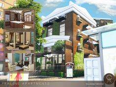 Praline Apartments by Cross Architecture for The Sims 4
