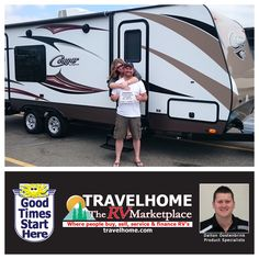 Congratulations to Warren & Danielle on the purchase of their Cougar 24SAB #traveltrailer from Dalton!  #cougarRV #RVlife #travel #travelhome #camping #RVing #vacation