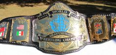 Real WWF Championship Wrestling Title Belt Andre The Giant WWE WCW TNA UFC ECW | eBay