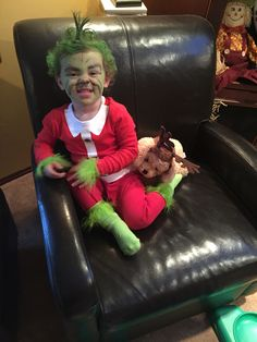 The grinch toddler Halloween costume  sc 1 st  Pinterest & Cool Homemade Grinch Who Stole Christmas Costume | Pinterest ...