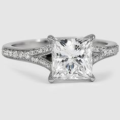 A dazzling contemporary princess cut engagement ring.