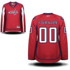 d980db2f Reebok Washington Capitals Women's Premier Alternate Custom Jersey - Red Washington  Capitals Jersey, Nhl Shop