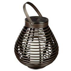 Hampton Bay - Solar Wicker Tabletop or Patio Lantern - HDC29370BR - Home Depot Canada