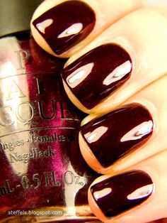 opi black cherry chutney (perfect color for fall/winter)