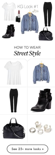 """street style #1"" by ksenygl on Polyvore featuring Toast, Topshop, Givenchy, Levi's and Bonbons"