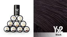 Yx2-hiustuuhennetta on saatavana 9 eri värisävyä, kuten tämä mystisyyttä viestivä upea musta . Voit käyttää myös eri sävy-yhdistelmiä, jolloin löydät tarvittaessa juuri oikean sävyn. Yx2-tuotteet löydät: www.yx2.fi/kauppa #yx2 #hiustuuhenne #sävy #color #black #musta