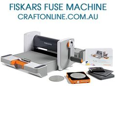 "Fiskars - Fuse Creativity Starter Set - Currently the only system on the market that can die-cut a shape, press a textured pattern and ink the pattern all in 1 pass! This kit features the Fuse machine that offers a 12"" width, easy-to-turn manual crank, built-in storage compartment and a folding design that makes for space-saving storage."