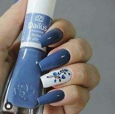 Curso manicure iniciante link na Bio do perfil . Fabulous Nails, Perfect Nails, Gorgeous Nails, Aycrlic Nails, Blue Nails, Nail Nail, Stylish Nails, Trendy Nails, Manicure E Pedicure
