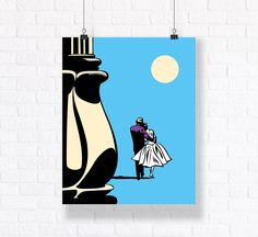 The End Romantic Comic Poster and Vector Art. Customizable