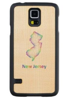 Rainbow New Jersey map Maple Galaxy S5 Slim Case $49.65 *** new jersey - map - new jersey map - usa - new jersey state - rainbow - state - art - nj map - jersey - new - multicolored - outline - colors - design - map art - colorful - color map - curves - state map - boundary - new jersey state map - Samsung Galaxy S5 wood case