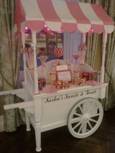 how to make a candy cart canopy