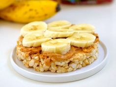 Peanut Butter and Banana Rice Cakes | 17 Power Snacks Every College Student Should Know