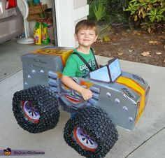 Monster Truck Party Part 3 - DIY Monster Truck Costumes   Out on a ...