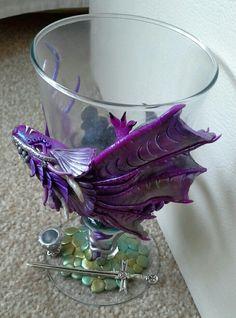 Dragon Goblet made by Charmed Fairy Doors. www.facebook.com/charmedfairydoors