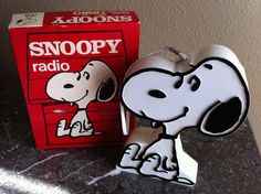 Snoopy radio.  Oh, my goodness!  I think we had one of these in my family!