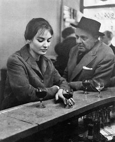Robert Doisneau, At the Café, Chez Fraysse, Rue de Seine, Paris, 1958