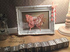 Framed stampin up paper craft
