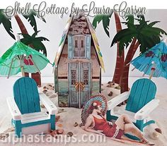 Alpha Stamps News » Beach Cabanas! Mini Cocktails and FREE Gift!