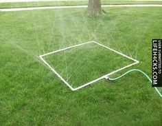 Use a PVC Pipe to Make a Sprinkler - #Kids, #Parent, #Summer