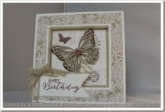 The Craft Spa - Stampin' Up! UK independent demonstrator : Butterfly Basics Shadow Box Frame Card