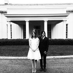 Lauren Cohen & Norman Reedus at the white house