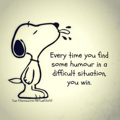 Humor in difficult situations...