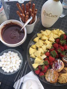 Chocolate ganache fondue.