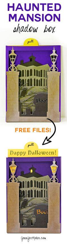 Make a Haunted Mansion Shadow Box Card | Halloween Card Tutorial | Handmade Card