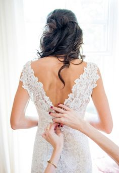 All-over lace, v-shaped back, pure elegance // Photo Pink