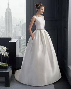 Dathybridal シックなバトーネック チャーチ #ボールガウン 花嫁のドレス #ウェディングドレス Hro0152