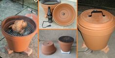 DIY Build A Smoker Out Of Clay / Terracotta Pots! Terracotta pots are pretty stinkin versatile. Did you know that they can be used for much more than growing flowers? It's true! Now get smoking this summer with your favorite recipes! Clay Pot Crafts, Diy Clay, Diy And Crafts, Diy Smoker, Homemade Smoker, Homemade Heater, Food Smoker, Pots D'argile, Clay Pots