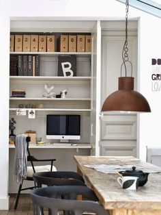 Small living by Kim Timmerman hidden workspace in dining room