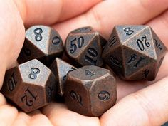 Copper Dice-Set of Dice Polyhedral dice set for Dungeons and