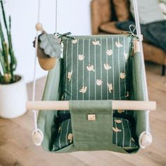Baby linen indoor & outdoor swing SLOTH, wooden swing seat, hanging baby cradle, hanging swing chair for toddlers and kids, baby shower gift Hanging Cradle, Hanging Swing Chair, Swing Seat, Swinging Chair, Swing Chairs, Indoor Swing, Indoor Hammock, Hammock Swing, Indoor Outdoor