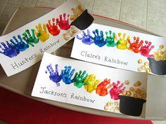 St. Patrick's Day Rainbow Handprint Art