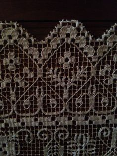 Filet Crochet, Irish Crochet, Crochet Lace, White Embroidery, Beaded Embroidery, Embroidery Stitches, Needle Lace, Bobbin Lace, Net Making