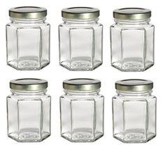 Nakpunar 6 pcs , 3.75 oz Mini Hexagon Glass Jars for Jam, Honey, Wedding Favors, Shower Favors, Baby Foods, DIY Magnetic Spice Jars Nakpunar http://smile.amazon.com/dp/B00Q8T2HYO/ref=cm_sw_r_pi_dp_loBAvb04SVJ58