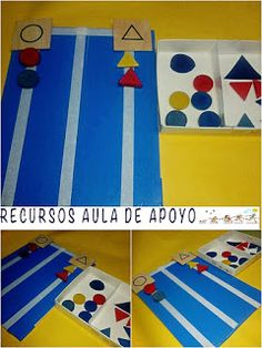 RECURSOS AULA DE APOYO: IDEAS TEACCH Life Skills Activities, Autism Activities, Preschool Activities, Kindergarten Special Education, Kids Education, Autism Teaching, Teaching Kids, File Folder Activities, Special Education