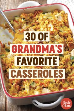 30 of Grandmas Favorite Casseroles The post 30 of Grandmas Favorite Casseroles appeared first on Tasty Recipes. One Dish Meals Tasty Recipes Cuisine Diverse, Pasta, Ground Beef Recipes, Ground Beef Dishes, Casserole Dishes, Chicken Casserole, Cheap Casserole Recipes, One Pot Meals, Food Dishes