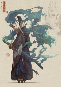 Hua Lu's submission on Feudal Japan: The Shogunate - Character Design - ArtStation – Hua Lu's submission on Feudal Japan: The Shogunate – Character Design - Dark Fantasy Art, Fantasy Artwork, Fantasy Kunst, Fantasy Character Design, Character Design Inspiration, Character Concept, Character Art, Concept Art, Art And Illustration