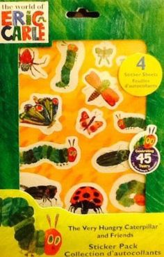 The Very Hungry Caterpillar & Friends Stickers make great baby shower giveaways or decorations