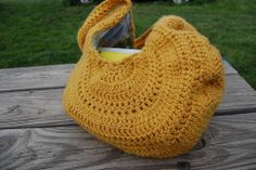 Mustard Summer Sling - CROCHET -  Knitting, sewing, crochet, tutorials, children crafts, papercraft, jewlery, needlework, swaps, cooking and so much more on Craftster.org