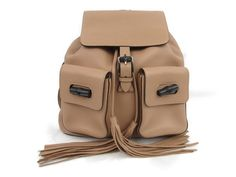 abee9d99ccbb Gucci - GUCCI Bamboo rucksack backpack bag Fringe 370833 Leather calf Beige  Vintage Gucci Bamboo,