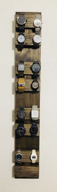 Watch Holder, Watch Box, Home Projects, Projects To Try, Woodworking Projects Diy, Jewellery Display, Wood Pallets, Industrial Design, Home Furnishings