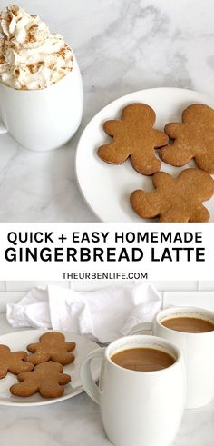Quick and easy homemade gingerbread latte recipe! Vegan Gingerbread, Gingerbread Latte, Awesome Food, Good Food, Yummy Food, Delicious Dishes, Delicious Recipes, No Dairy Recipes, Vegan Recipes