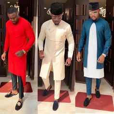 An is a wedding guest {bella} looking stunning in aso-ebi – the fabric/colors of the day, at a - AsoEbi Bella. Latest African Wear For Men, African Attire For Men, African Clothing For Men, African Dashiki Shirt, Dashiki For Men, African Shirts, Indian Men Fashion, African Fashion, African Style