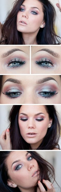 """Makeup Geek's pigment in """"Insomnia"""" which is a chocolate brown duochrome pigment with teal/blue reflects"""